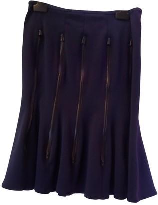 Junya Watanabe Blue Wool Skirt for Women