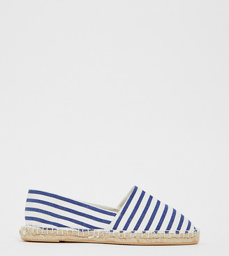 London Rebel wide fit stripe espadrille-Multi