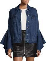 Edit Cotton Pleated Sleeve Jacket