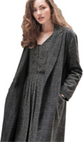 Louizon - Long Black & Old Pink Wool Coat - Size 0 - Black/Grey