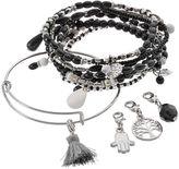 Mudd Hamsa, Tree of Life, Tassel & Bead Charm Bracelet Set