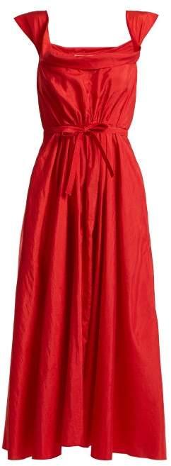 Brock Collection Davi Square Neck Taffeta Dress - Womens - Red