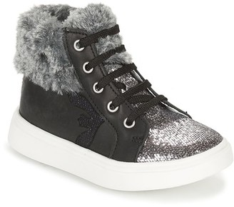 Catimini MARCELLE girls's Shoes (High-top Trainers) in Silver