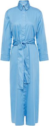Forte Forte Belted Cotton-poplin Midi Shirt Dress