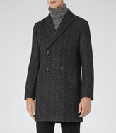Reiss Reiss Basset - Double-breasted Coat In White