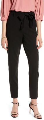 Halogen Tie Waist Twill Ankle Pants