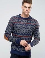 Bellfield Vintage Style Fairisle Knitted Sweater