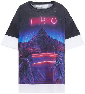 IRO Amboy Oversized Printed Linen-jersey T-shirt