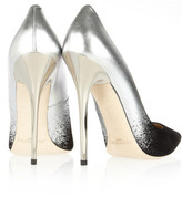 Jimmy Choo Anouk degradé metallic leather and suede pumps