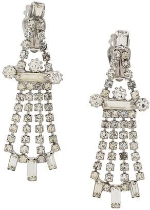 Susan Caplan Vintage 1960's chandelier crystal earrings