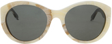 Victoria Beckham Marble Oval Sunglasses