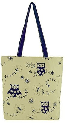 Ksb Ladies Cotton Canvas Animal Design Shoulder/Shopper Bag (Birds)