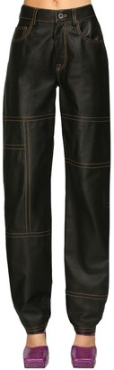Sunnei High Waist Leather Pants