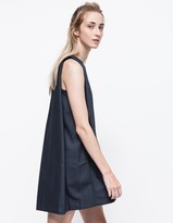 Boatneck Open-back Dress