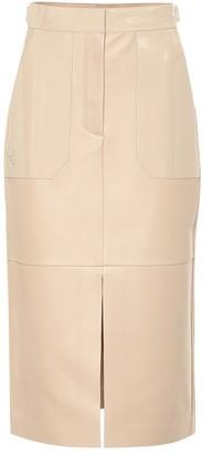 Fendi Leather pencil skirt