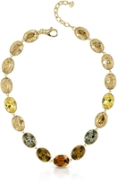 Forzieri Golden Crystal Necklace