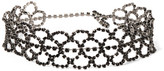 Kenneth Jay Lane Gunmetal-plated Crystal Choker - one size