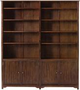 "Oxford 64""W Double Open Bookcase with Cabinet"