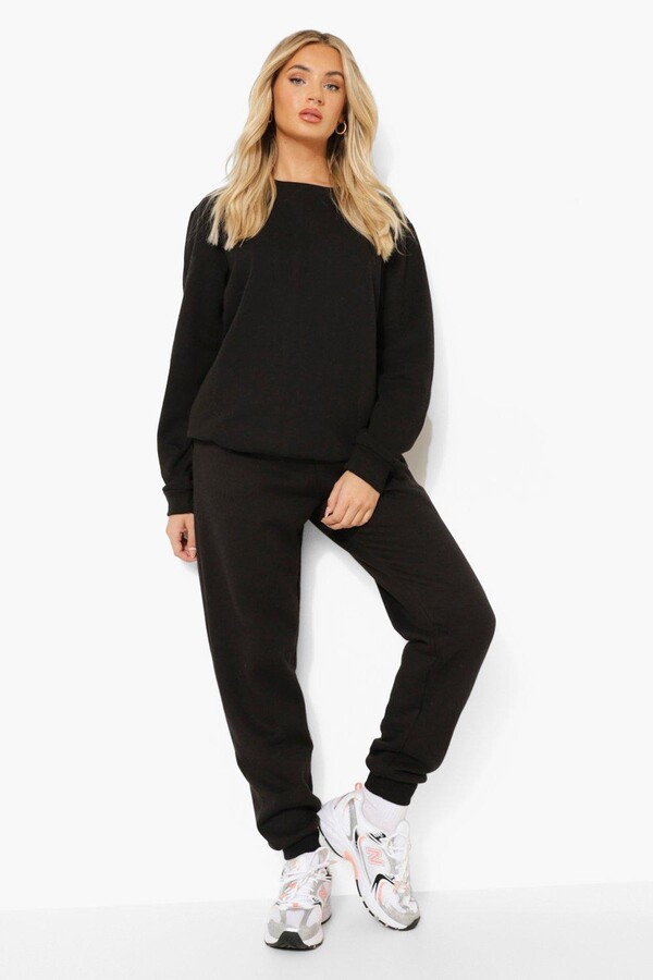 Thumbnail for your product : boohoo Basic Cuffed Hem Joggers