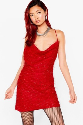 Nasty Gal Womens Cowl It Even Strappy Mini Dress - Red - 4