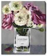 Oliver Gal Acqua Florale Canvas Wall Art