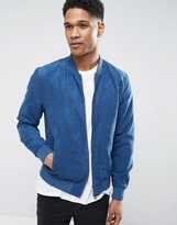 Jack and Jones Faux Suede Bomber Jacket