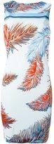 Emilio Pucci feather print dress - women - Viscose/Silk - 44