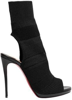 Christian Louboutin Cheminene 120 Cutout Stretch-knit Sock Boots