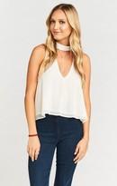 MUMU Casey Collar Top ~ Sparkle & Shine Ivory