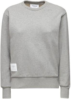 Thom Browne Cotton Sweatshirt W/ Back Stripes
