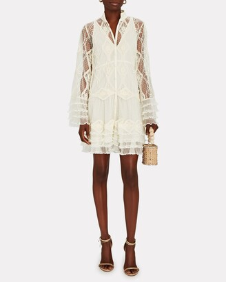 Alexis Perlina Embroidered Lace Mini Dress