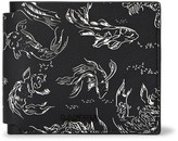 Lanvin Koi-Print Leather Billfold Wallet