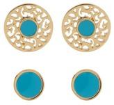 Ariella Collection Enamel Earrings Set - Set of 2
