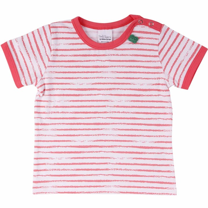 Fred's World by Green Cotton Baby Girls' Ocean Stripe S/s T Shirt