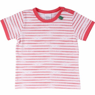 Green Cotton Fred's World by Baby Girls' Ocean Stripe S/s T Shirt