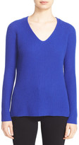 Autumn Cashmere Shaker Stitch Cashmere V-Neck Sweater