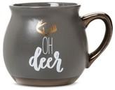 "Threshold Oh Deer"" 16oz Stoneware Belly Mug Brown"