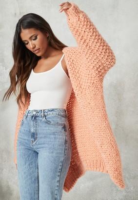 Missguided Orange Hand Knit Cardigan