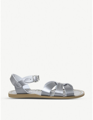 Office Salt Water metallic leather sandals