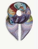 Mary Katrantzou Sequin stripe cashmere-blend scarf