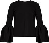 Roksanda Truffault bell-sleeved stretch-cady top