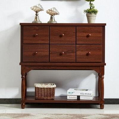 """Thumbnail for your product : Alcott Hill Billiot 36.2"""" Console Table Color: Walnut"""