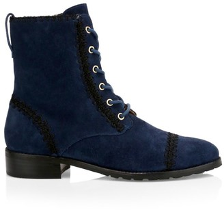 Jack Rogers Gemma Suede Lace-Up Booties