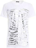 Balmain T-shirt Con Stampa Metallizzata