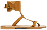 K Jacques St Tropez Caravelle Leather Sandals - Tan