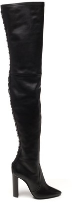 Saint Laurent 76 Thigh-High Laced Boots