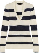 Proenza Schouler Striped Ribbed Wool-blend Sweater - Off-white