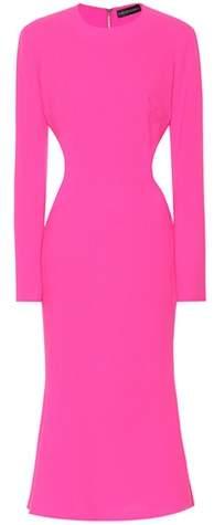 David Koma Wool crêpe dress