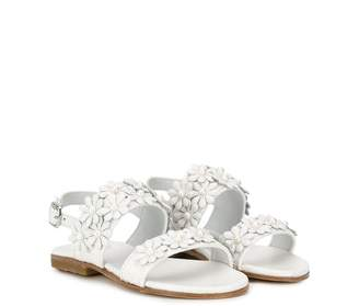 Gallucci Kids floral embellished sandals
