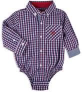 Andy & Evan Boys' Check Button-Down-Shirt Bodysuit - Baby